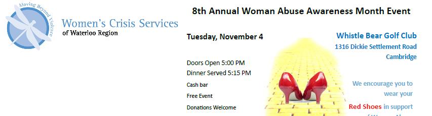 Women Abuse Awareness Event – November 4, 2014