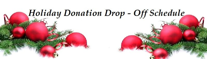 Holiday Donation Drop Off Schedule