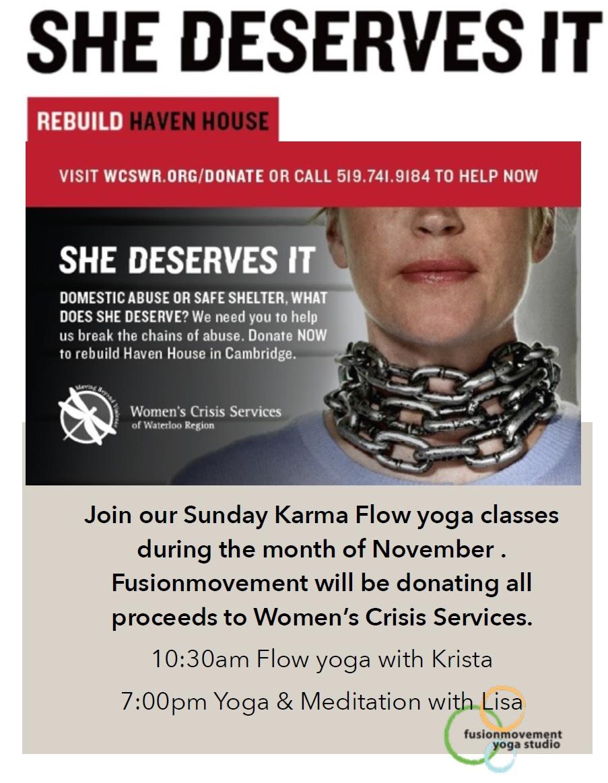 Join us as Fusion Movement Donates Karma